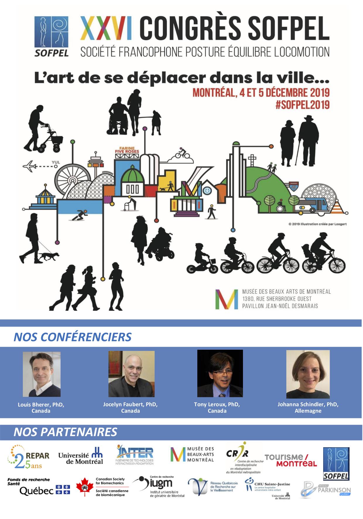 XXVieme Congrès de la SOFPEL 2019 Montréal